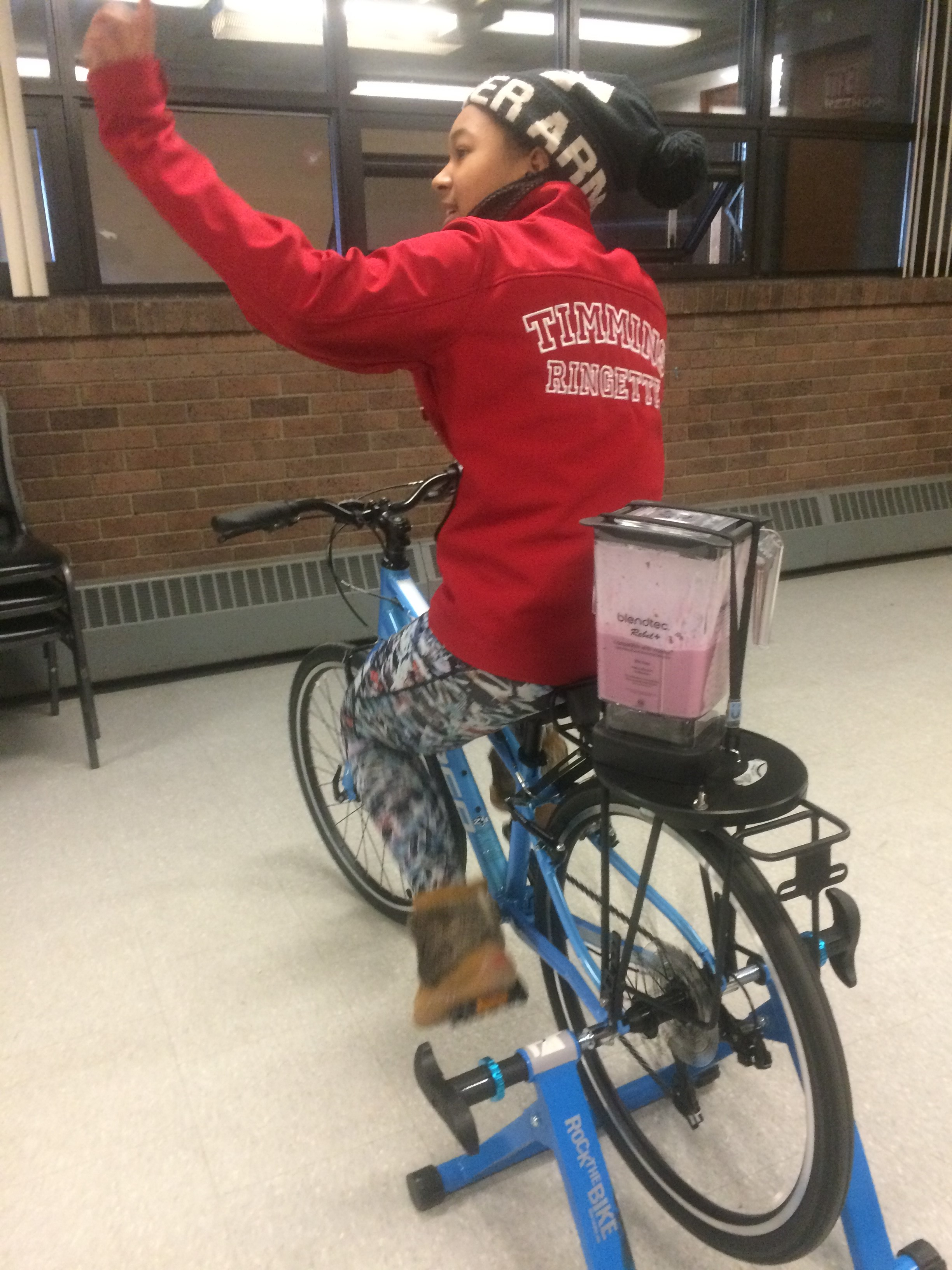 Smoothie Bike at Ringette